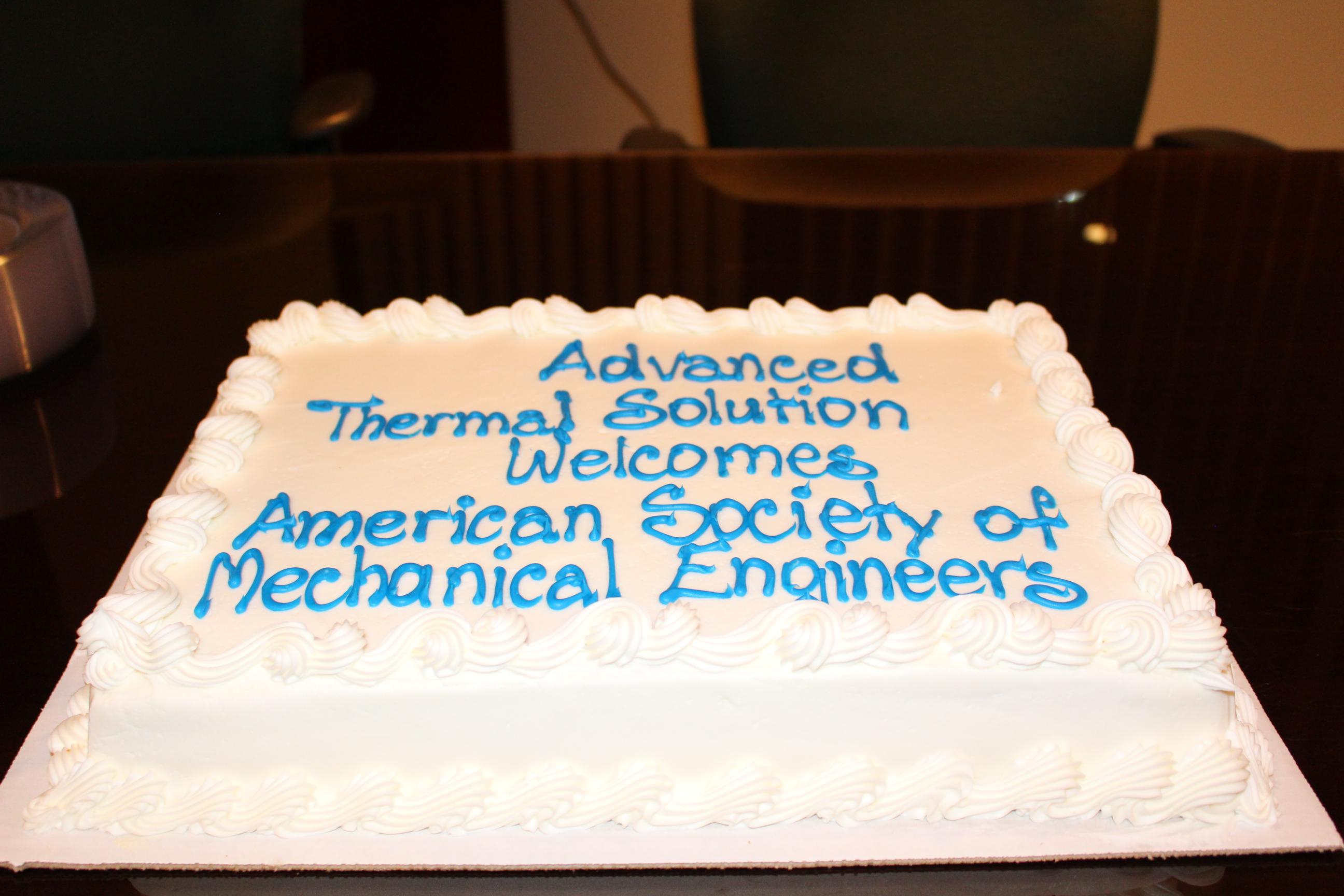 December 2015 ASME Meeting at ATS Cake